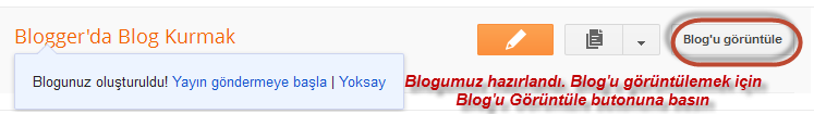 blogger blog hazır