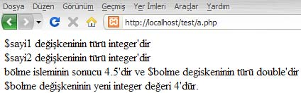 PHP settype Fonksiyonu