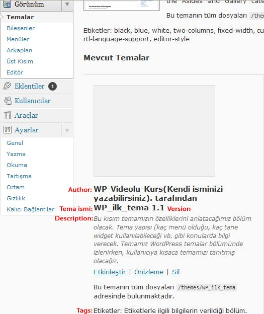 WordPress Tema Yapmı index.php