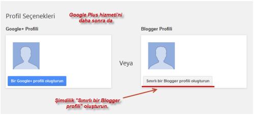 bloggerda profil oluşturmak