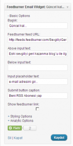 Feedburner Email Widget 1